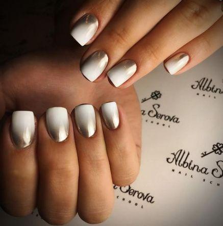 nails acrylic ombre christmas 61 trendy ideas  chrome nails