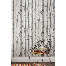 Shop Brewster Wallcovering Peel and Stick Grey Vinyl