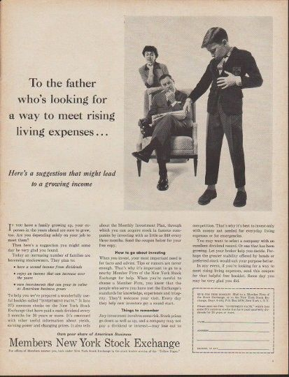 1960 Members New York Stock Exchange Vintage Ad To The Father