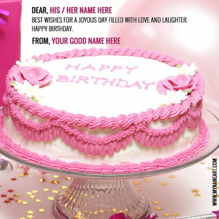 Happy Birthday Invitation Card With Name N Photo Editor