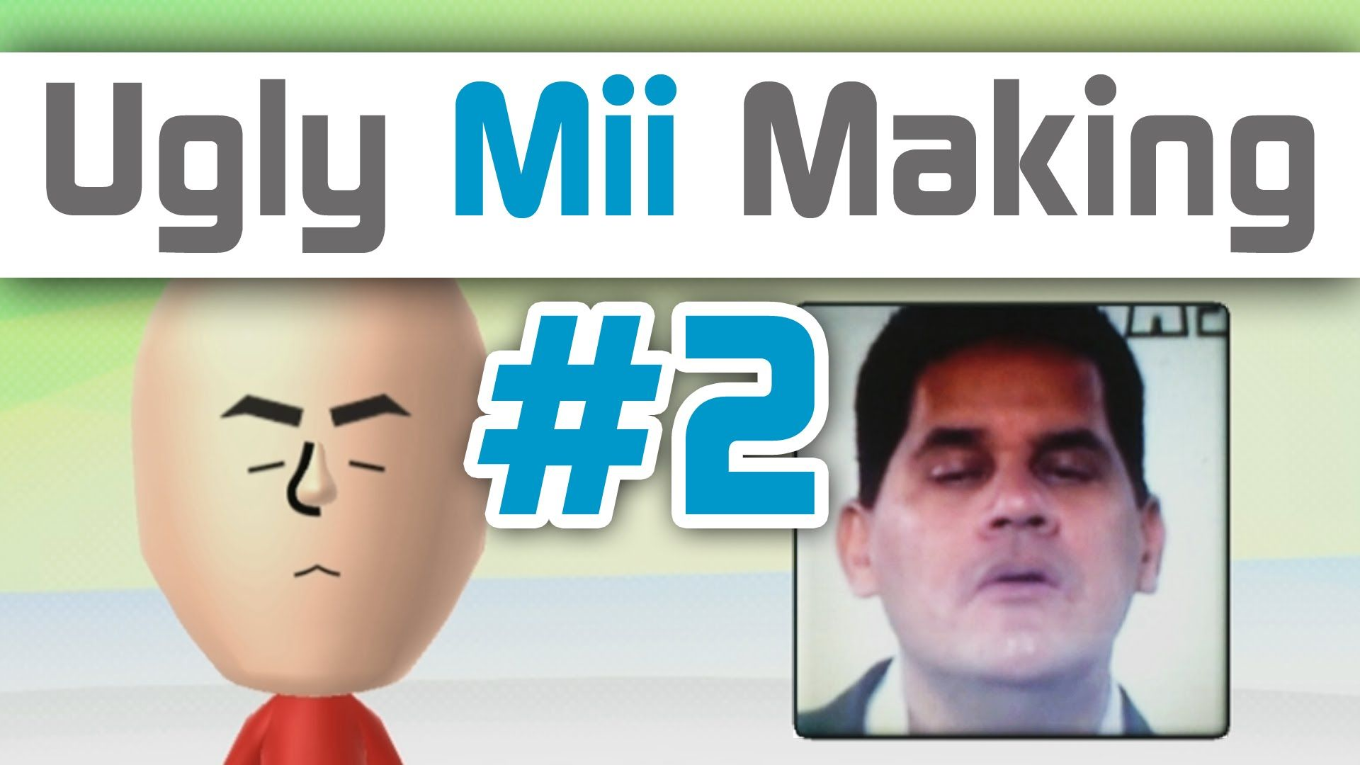 Ugly Mii Making Using Nintendo Wii U Gamepad Camera #2   Favorite
