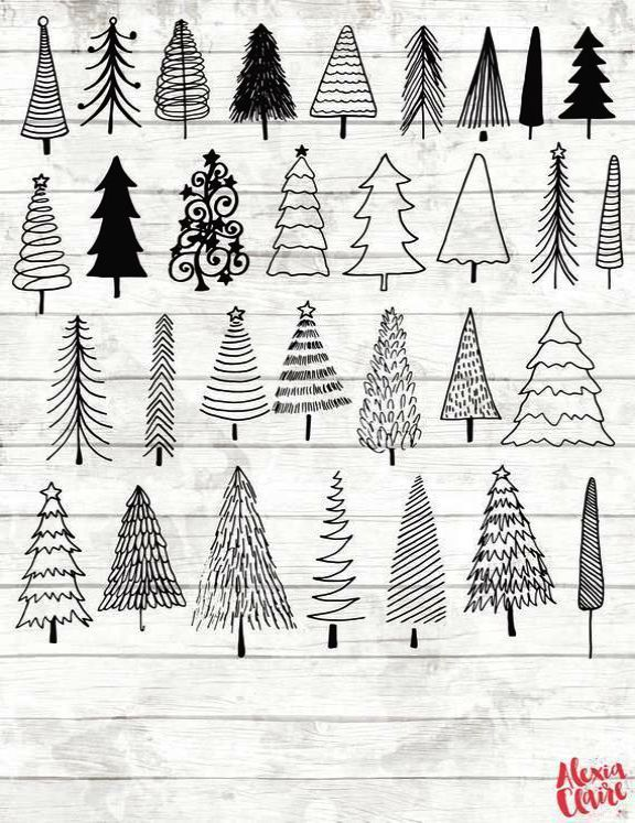 Christmas Tree For Sale What Black White Christmas Tree Ideas Christmas Tree Drawing Christmas Tree Clipart Christmas Planner Stickers