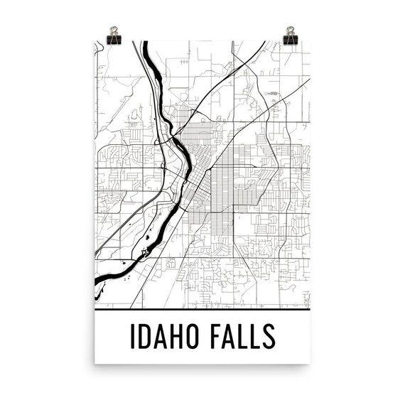 map of idaho falls id Idaho Falls Map Idaho Falls Art Idaho Falls Print Idaho Falls map of idaho falls id