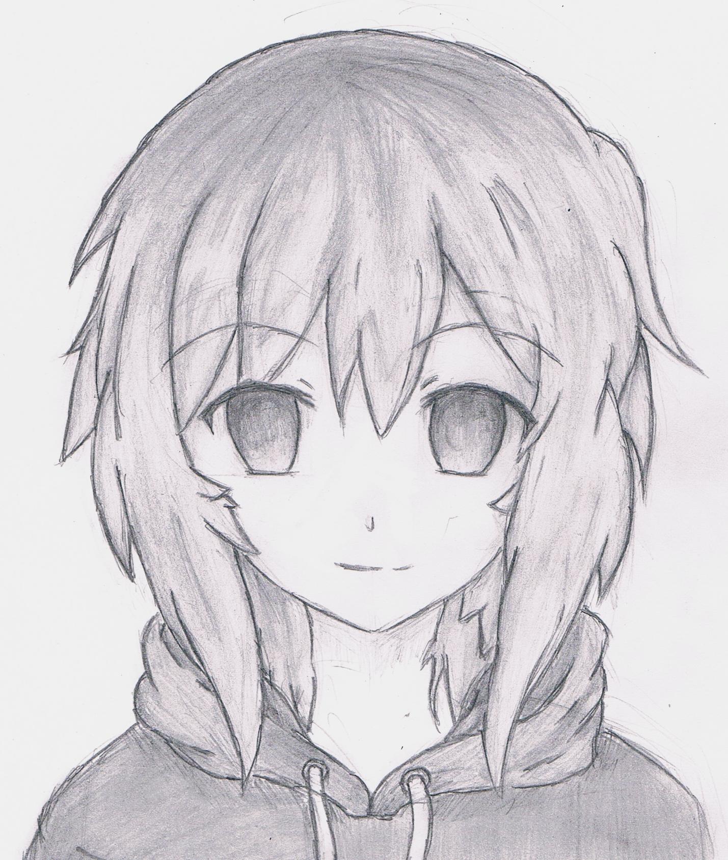 Рисунки аниме девушек легкие