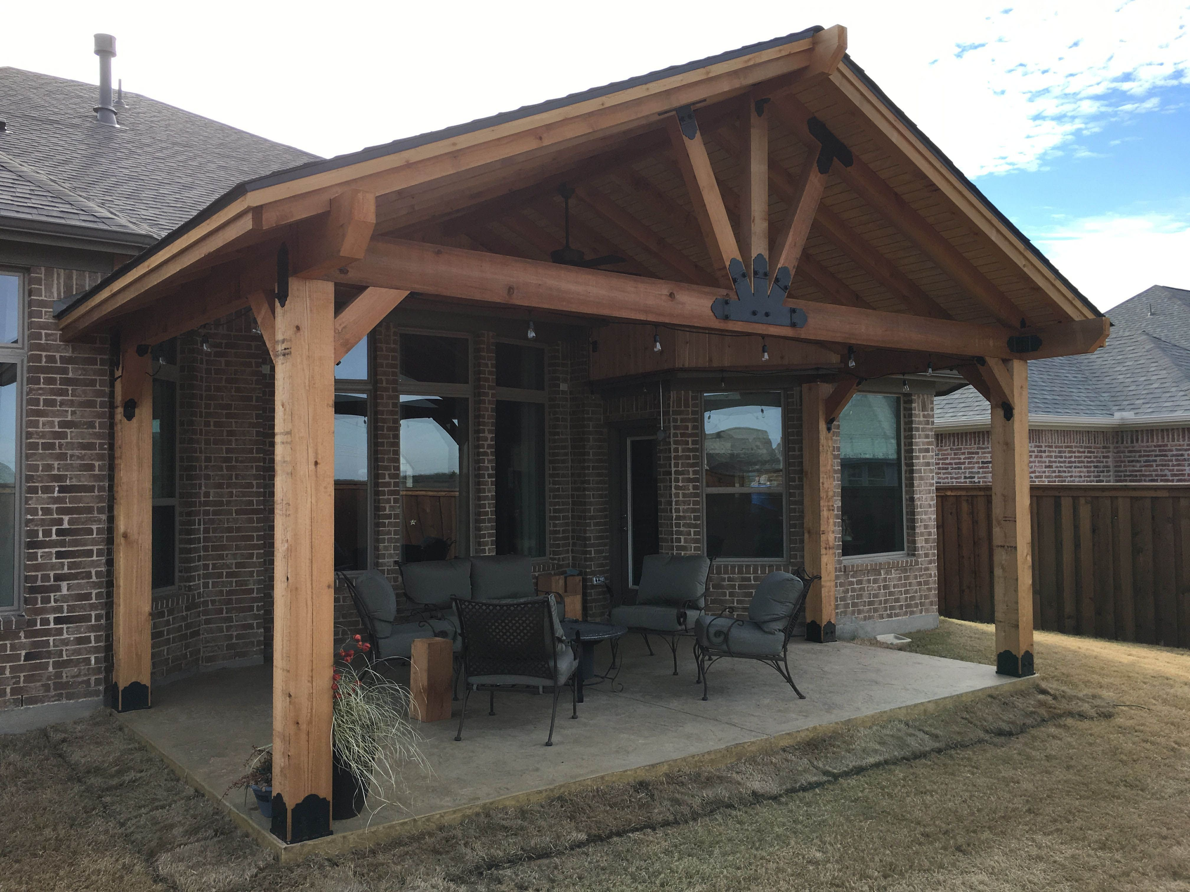Plan Pergola Bois Couverte porch roof designs and styles | design terrasse couverte
