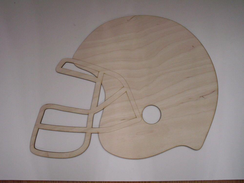 Football Helmet,Laser Cutouts,Unfinished Wood,Home Decor,Wall Art,Sports