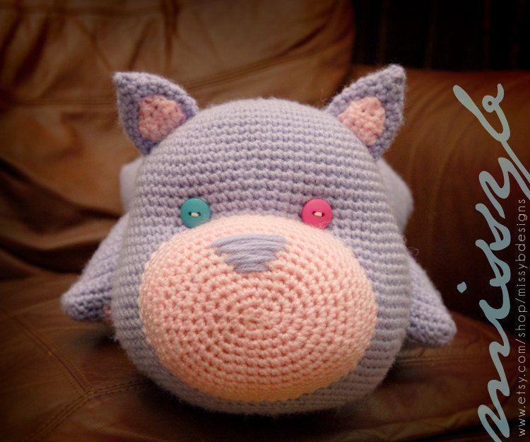 Pdf Pattern Crochet Cat Pillow Pattern Kitty Cat Pillow Pal Pet