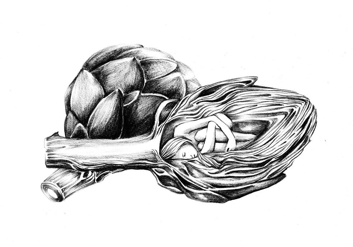 Cœur d'Artichoke on Behance by Nadia Fernandes