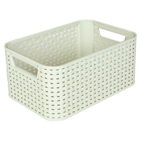 Plastic Bath Basket White Small Curver Baskets Basket