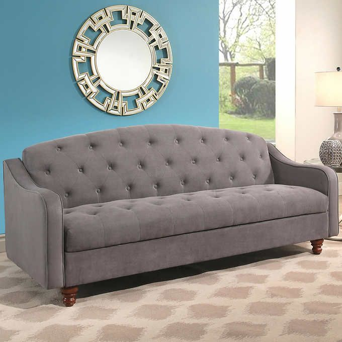 Costco Vera Fabric Sleeper Sofa With Storage Gray