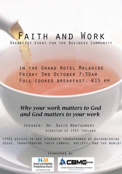 Breakfast Event for the Business Community, Grand Hotel Malahide, Fri.3rd October 2014, 7:30am
