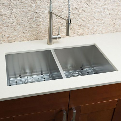Hahn Chef Series Handmade Embossed Equal Double Bowl Sink Single Bowl Sink Double Bowl Undermount Kitchen Sink Kitchen Remodel