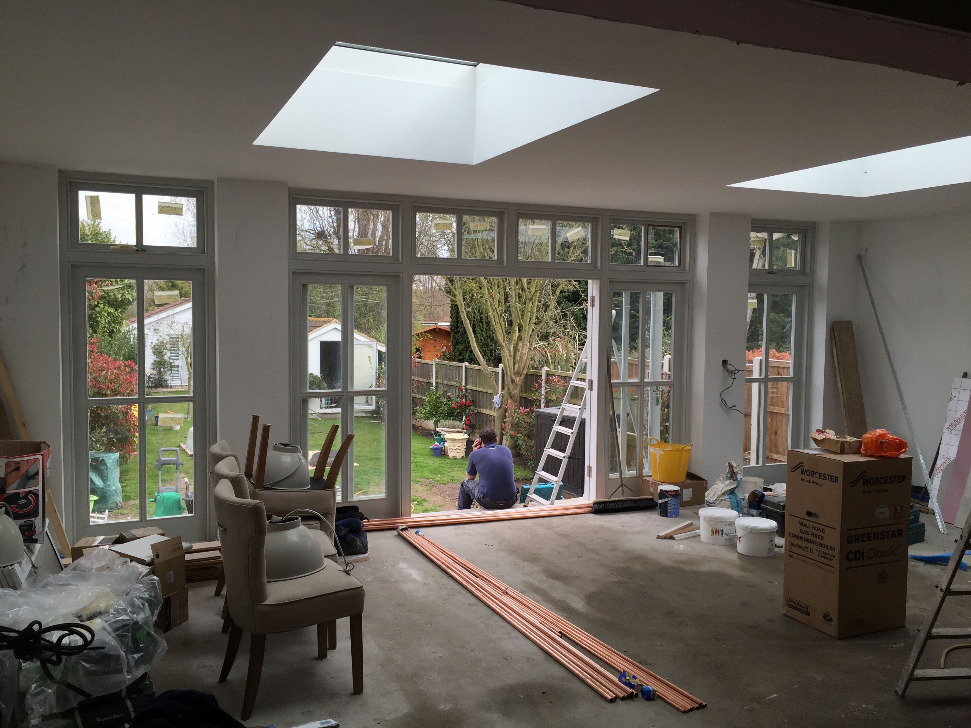 Flat extension roof idea flat roof skylights flat extension roof idea - Current Project Single Storey Rear Extension Amazing Wooden External Doors And Large Flat Roof Windows Rear Extensionextension Ideasorangery