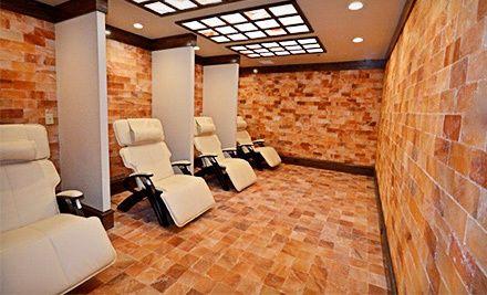1 5 Or 10 Salt Therapy Sessions At Ariasalt Salt Therapy Center Up To 73 Off Salt Room Salt Room Therapy Himalayan Salt Room
