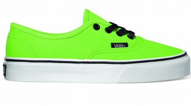 332832b95c Lime green vans with black laces. Talk about bright