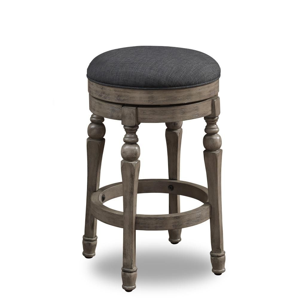 Maxwell 26 In Sand Backless Swivel Counter Stool 3210 026c