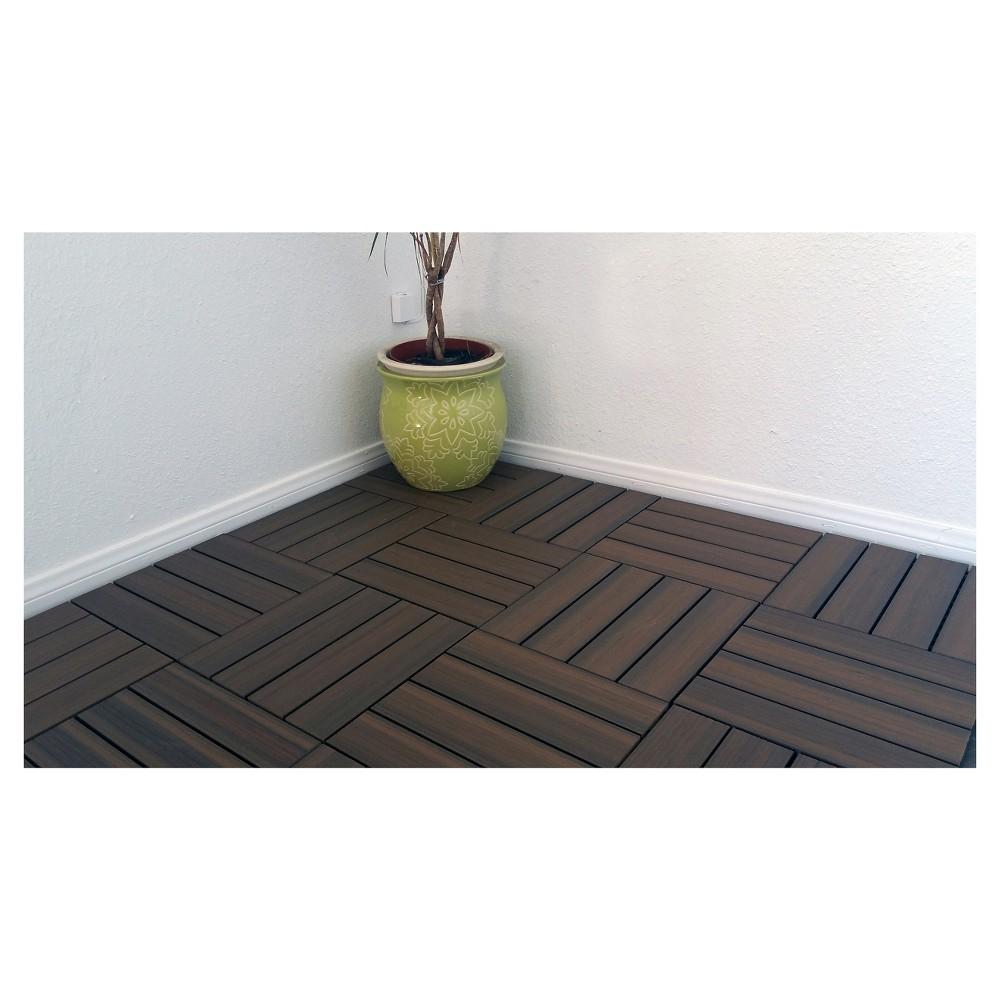 Vifah 11 tiles/Box Eco-Friendly Wood-Plastic Composite Interlocking Decking Tile - ()