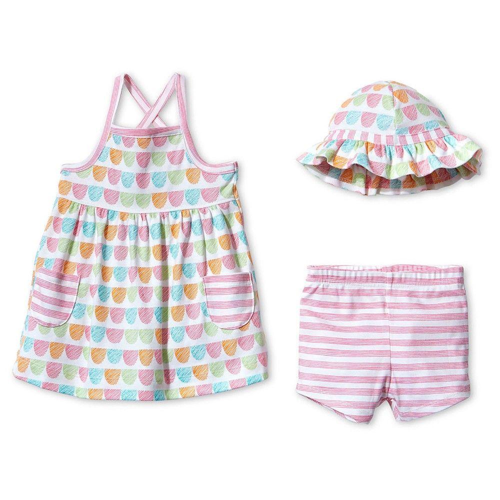 0bb12018b Lamaze Baby Girls' Organic 3-Piece Dress Set - Pink/Yellow 12M ...
