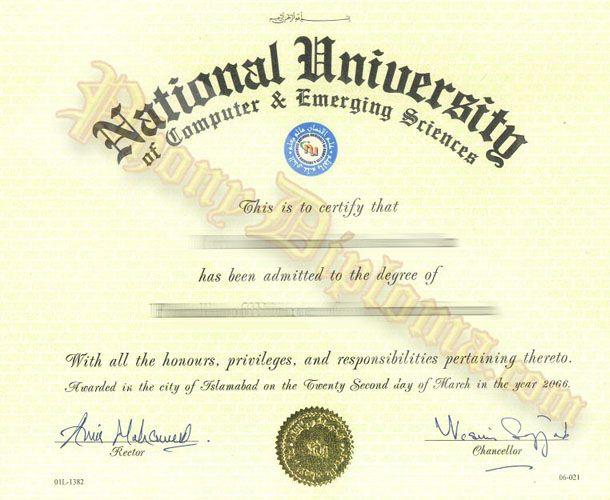National University Islamabad India Fake Diploma Sample from - sample graduation certificate