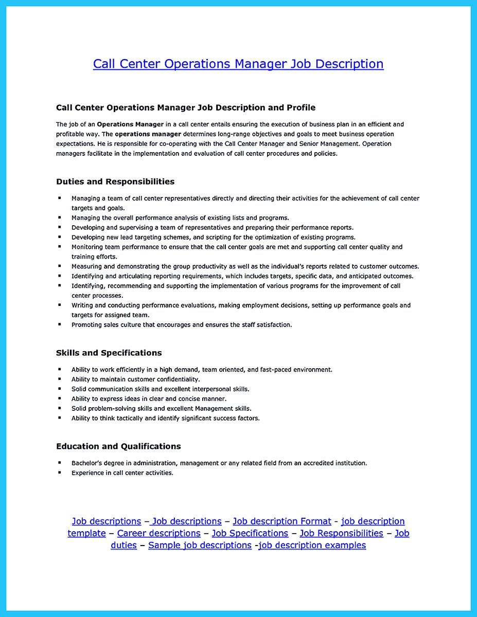 Create Charming Call Center Supervisor Resume With Perfect Structure Call Center Operations Management Resume