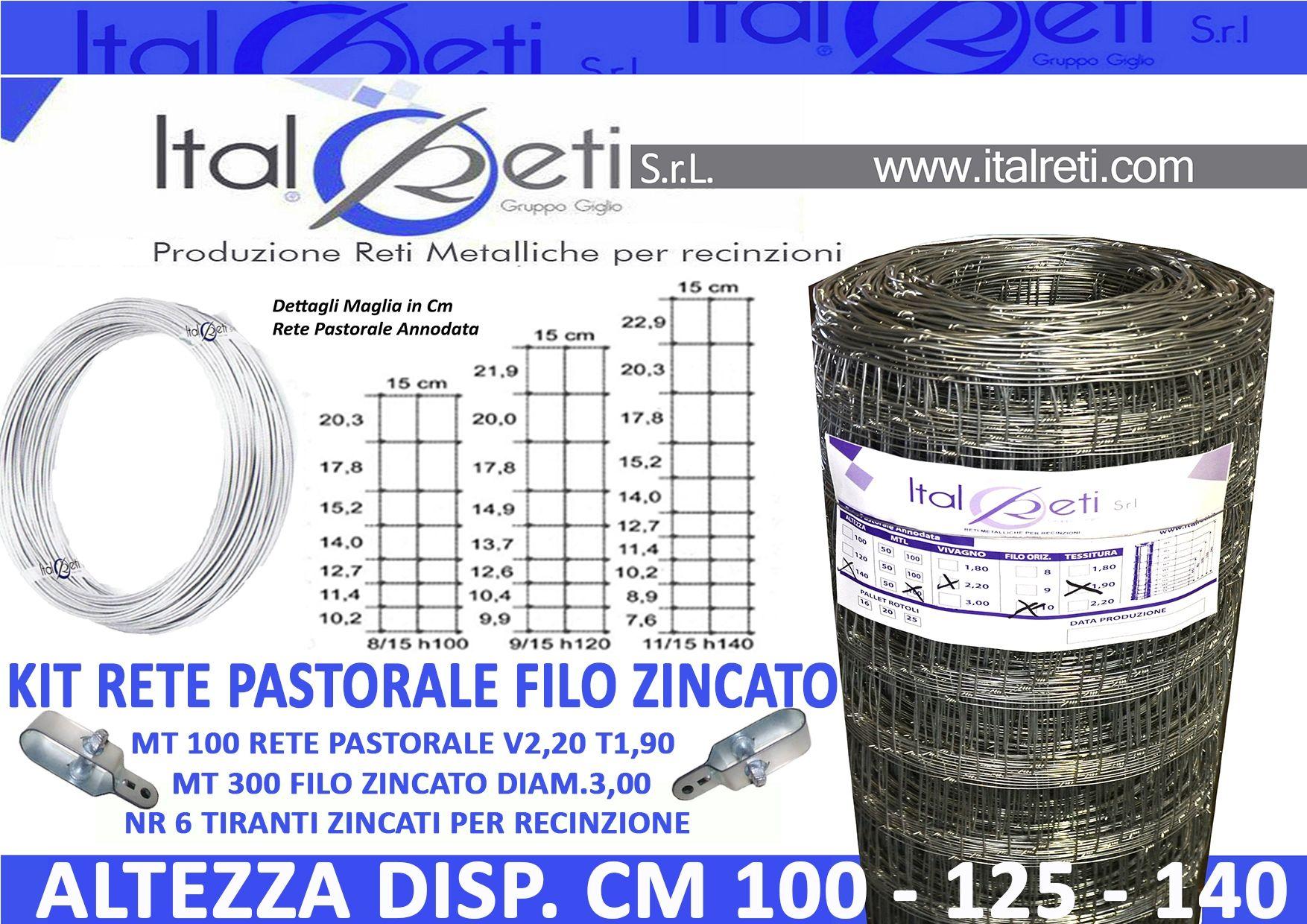 25 Metri Rete Elettrosaldata Plastificata Filo Plastificato: 2,40 Rete Recinzione ITALRETI PRO Maglia 50x75 Altezza: 200 cm