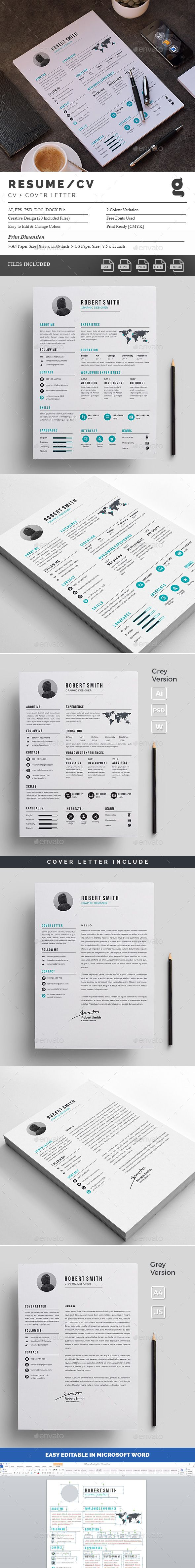 Resumes — Photoshop PSD #designer #letterhead • Download ➝ https ...