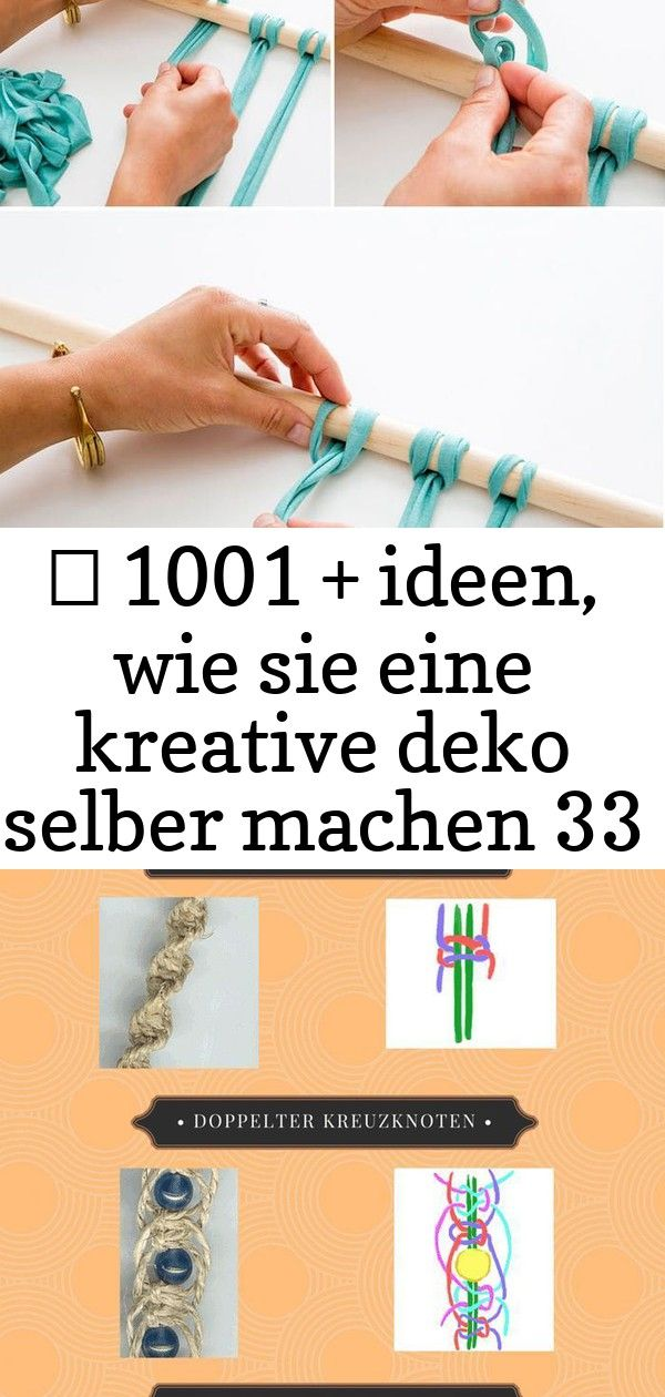 1001  ideen wie sie eine kreative deko selber machen 33 deko ideen wand makramee flechten streifen blauer stoff holzstab Makramee  Knüpftechnik aus dem Orient total...