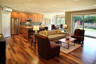 Love The Open Floor Plandoor Could Go To Pantrymud Room Gorgeous Open Living Kitchen Design Design Ideas