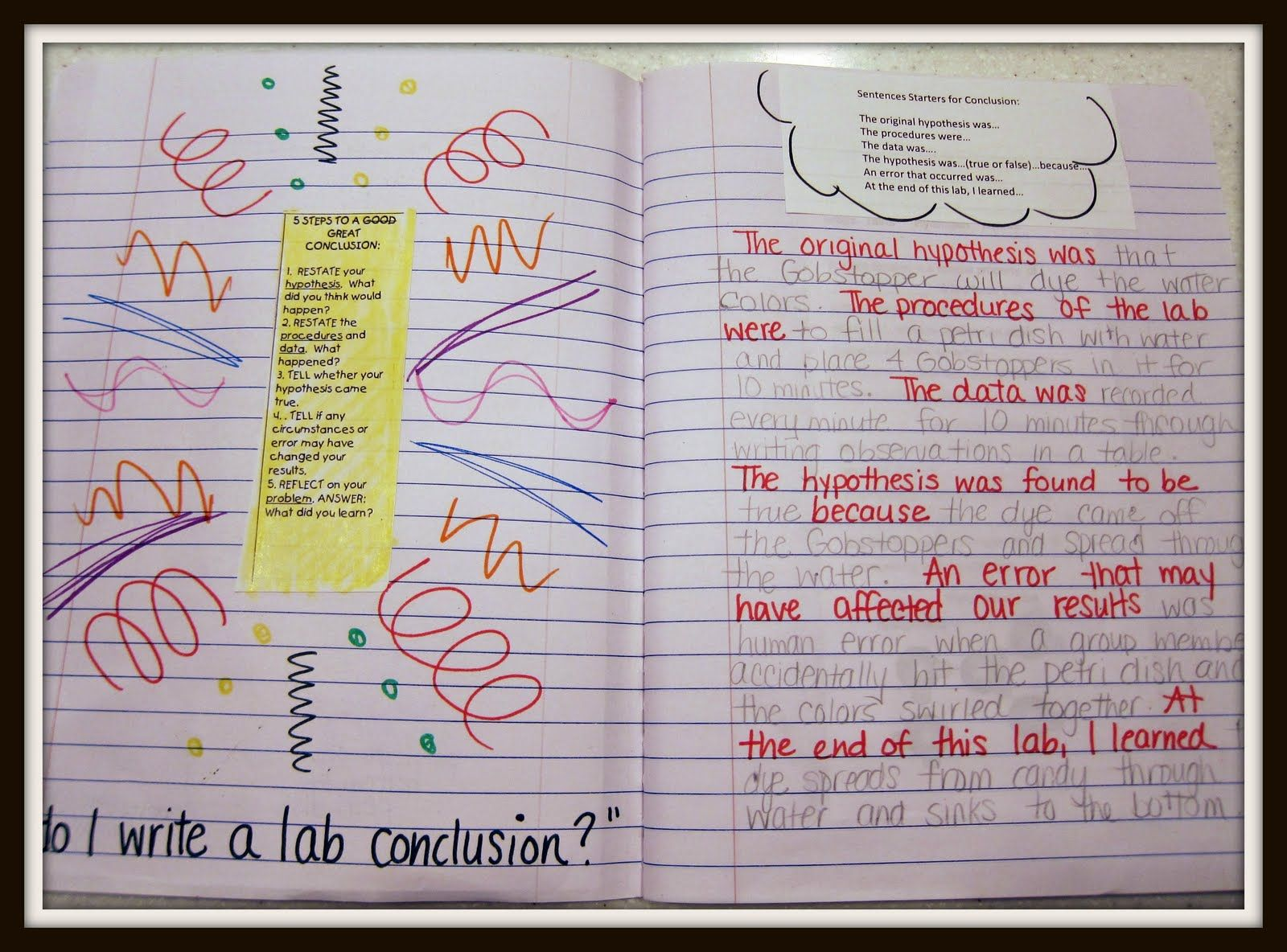 Science Sentence Frames With Images