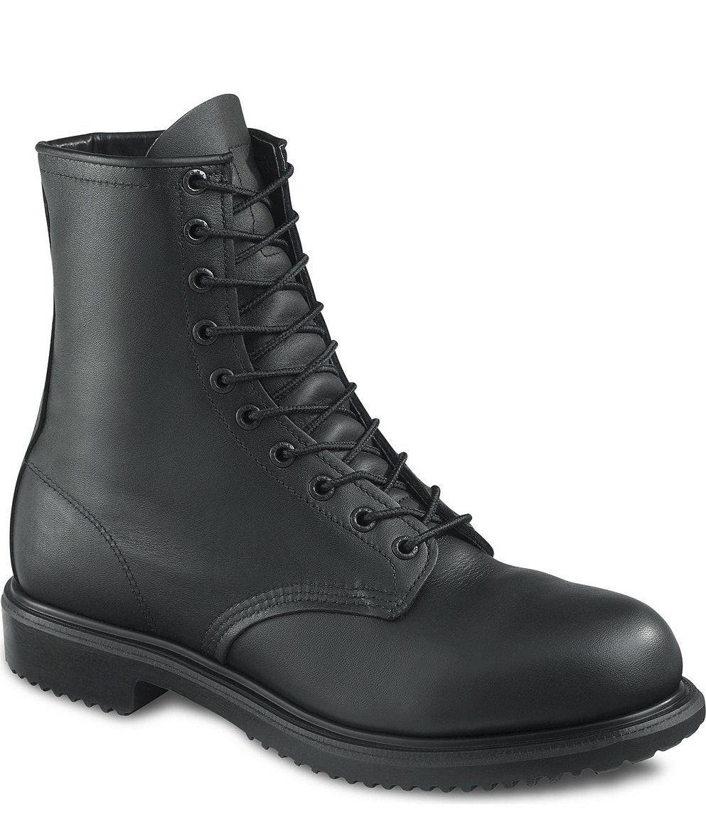 Red wing shoes, Mens steel toe boots