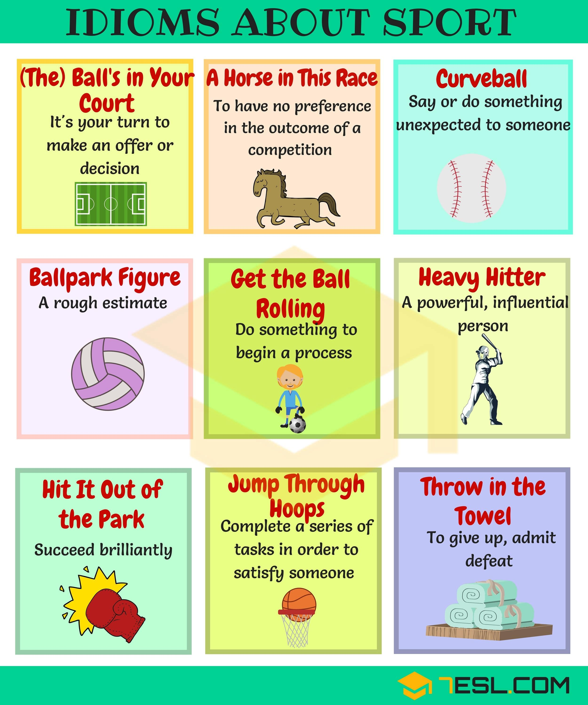 Sports Idioms 45 Useful Sport Idioms Phrases Modismos