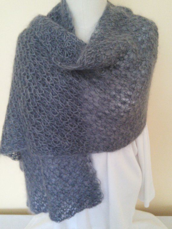 Hand Knit Lacy Mohair Shawl | Hand knitting, Knitting, Shawl