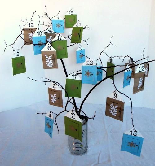 Advent Calendar - Bouquet on a Tree