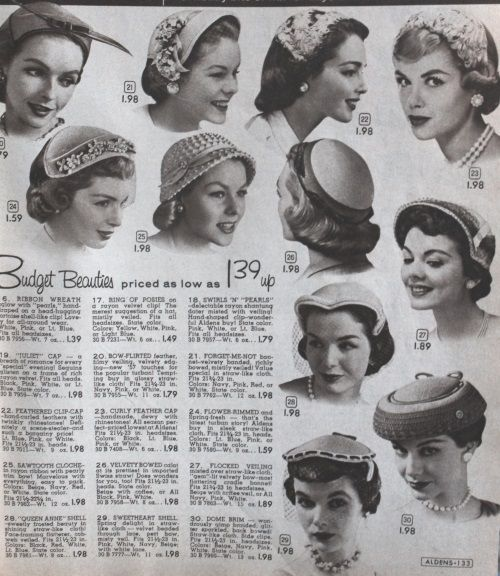 1957 Small Hats 1950s Fashion Women 756c3876a69