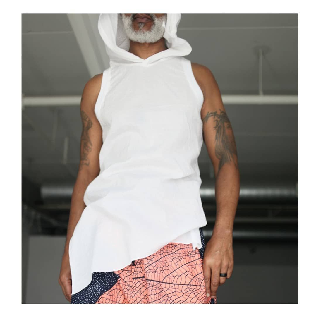 """SHAKA KING on Instagram: """"SKM #productplacement. The sheer long tank in puckered cotton-like seersucker but sexier. Cool & comfortable when the temperature soars."""""""