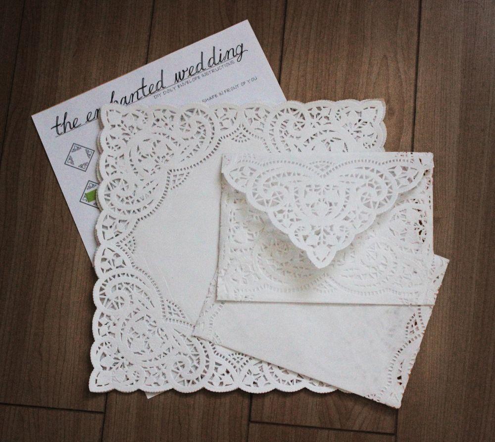 Basic DIY Kit for A7 Sized White Lace Doily Envelopes - 100 pc ...