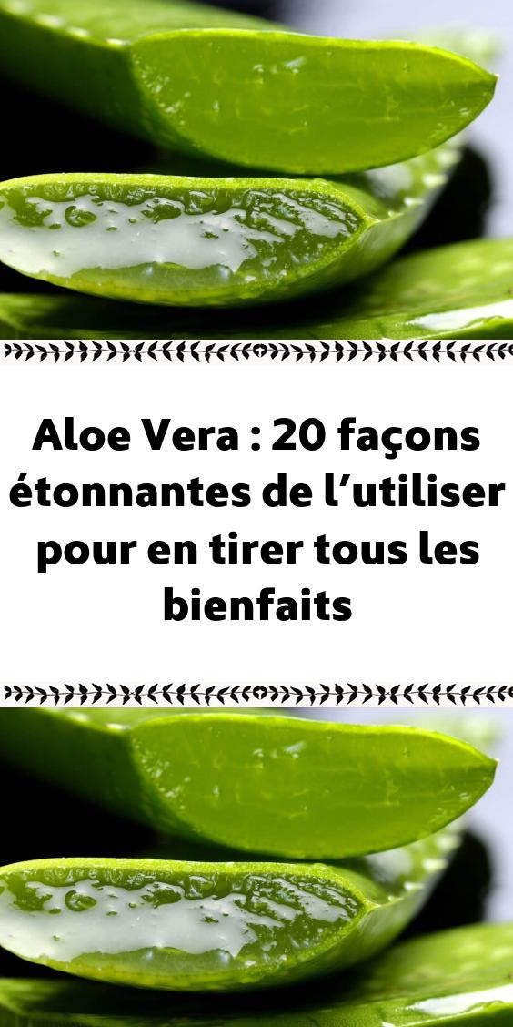 Aloe Vera : 20 façons étonnantes de l'utiliser pour en