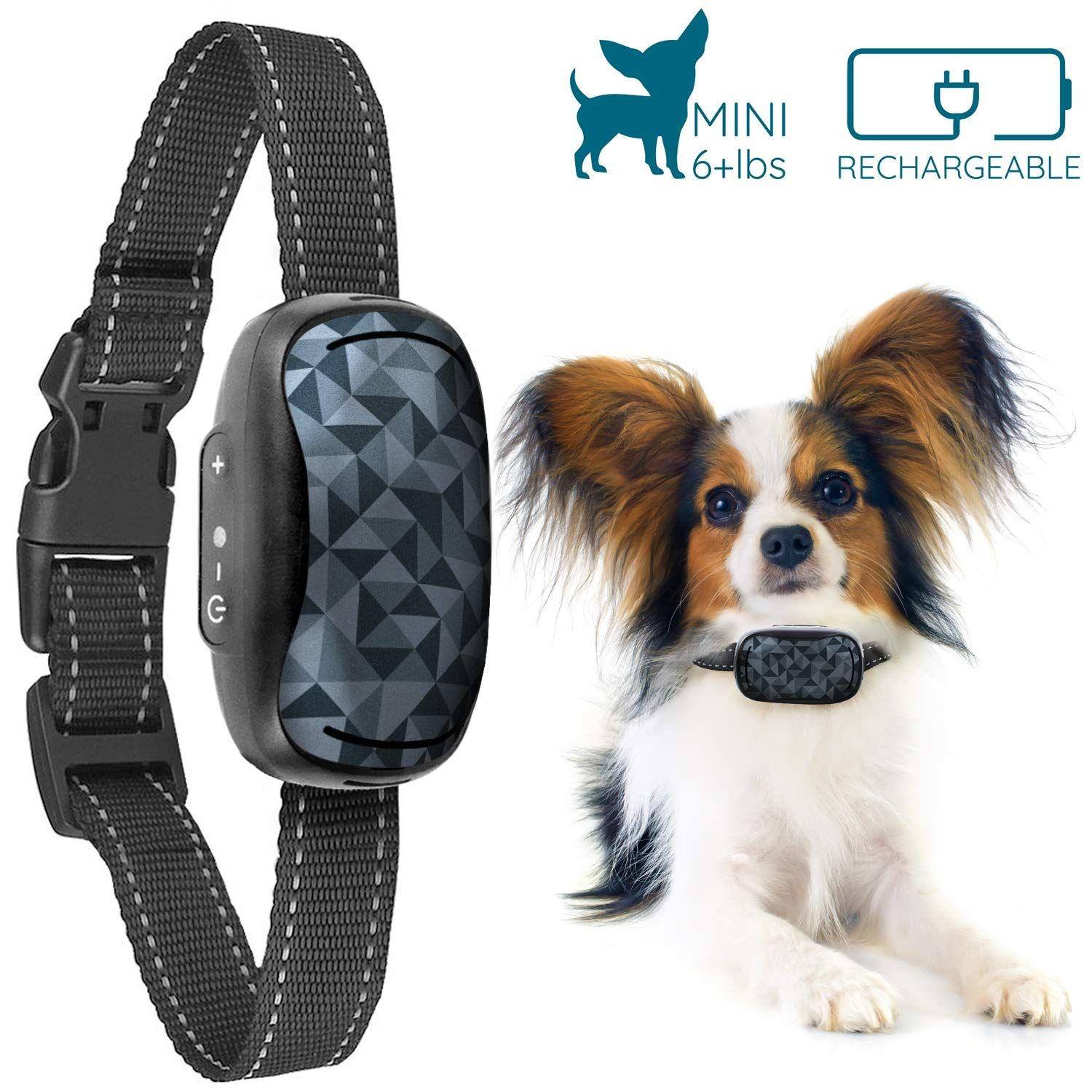 Goodboy Small Rechargeable Dog Bark Collar For Tiny To Medium Dogs