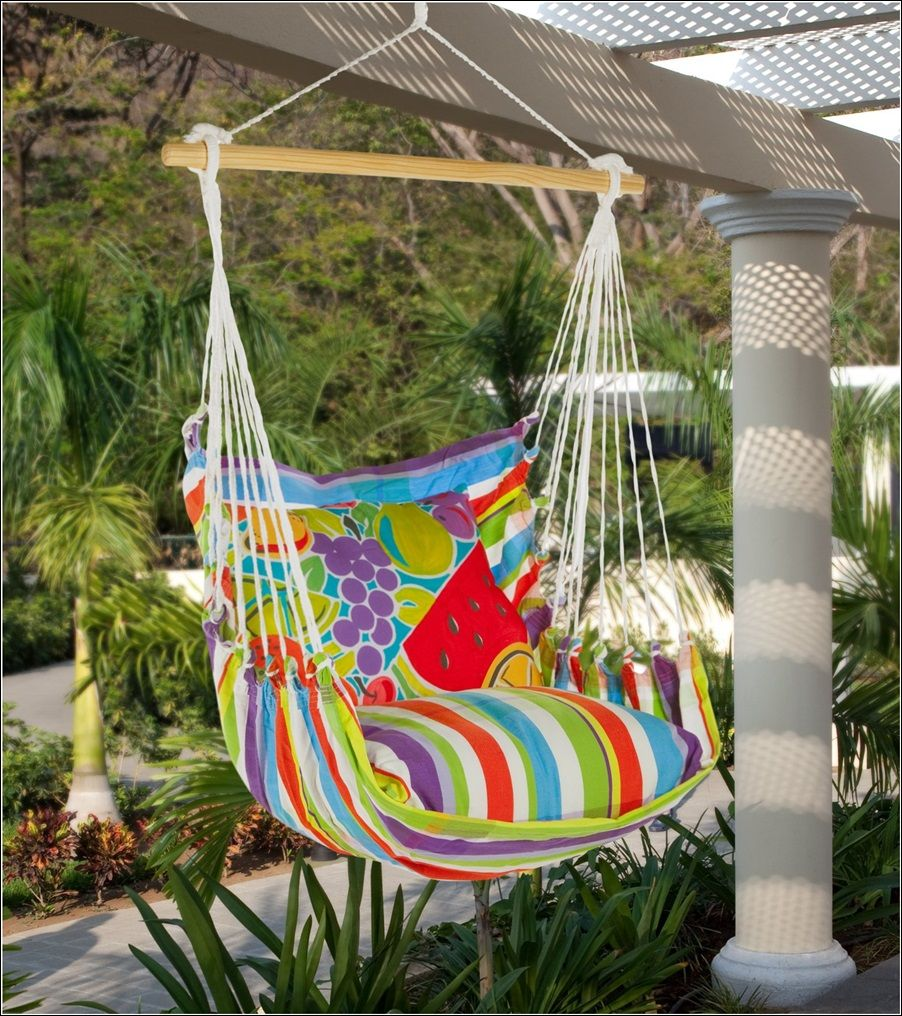 Hammock Pillow Seats With Exquisite Prints For Your Garden Diy Hammock Chair Diy Hammock Hammock Chair