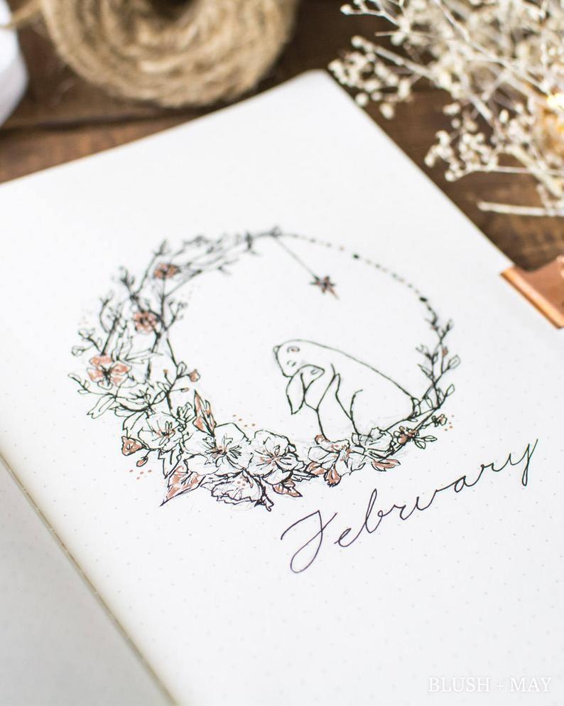 Full February 2018 Setup  Printable for Journal or Planner | Etsy