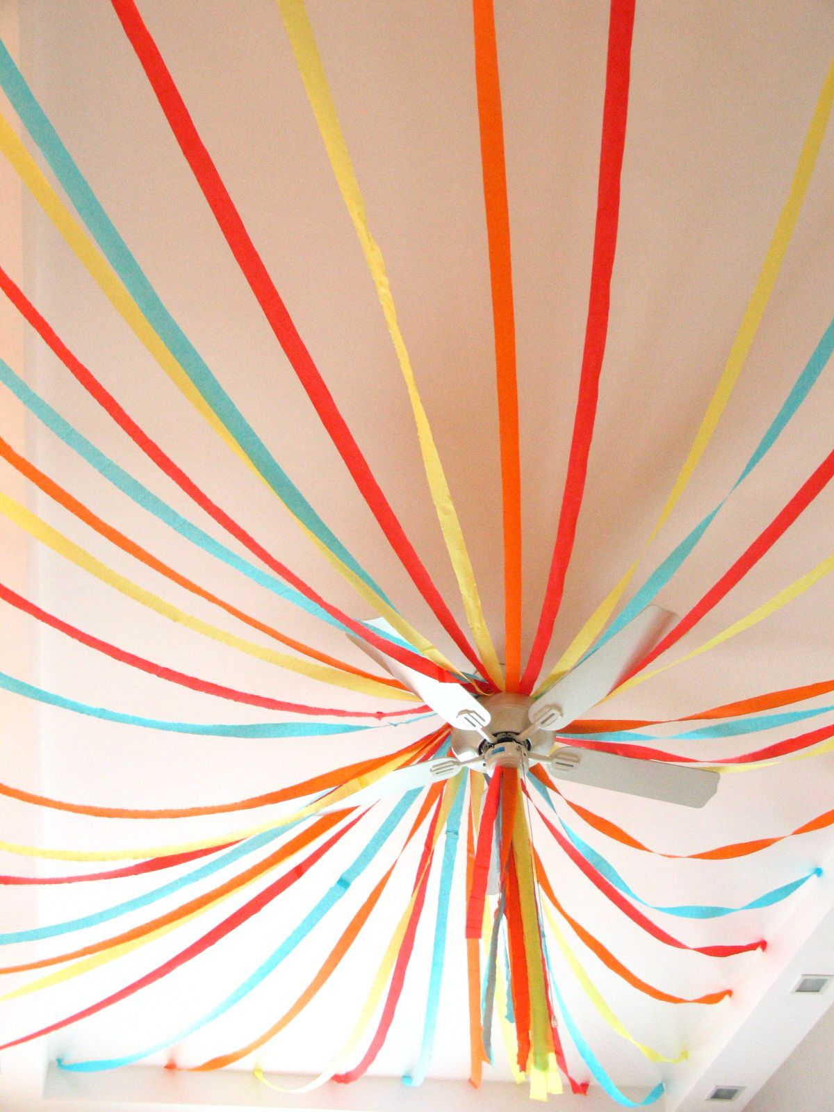 Streamer ceiling decoration ideas google search party for Balloon and streamer decoration ideas