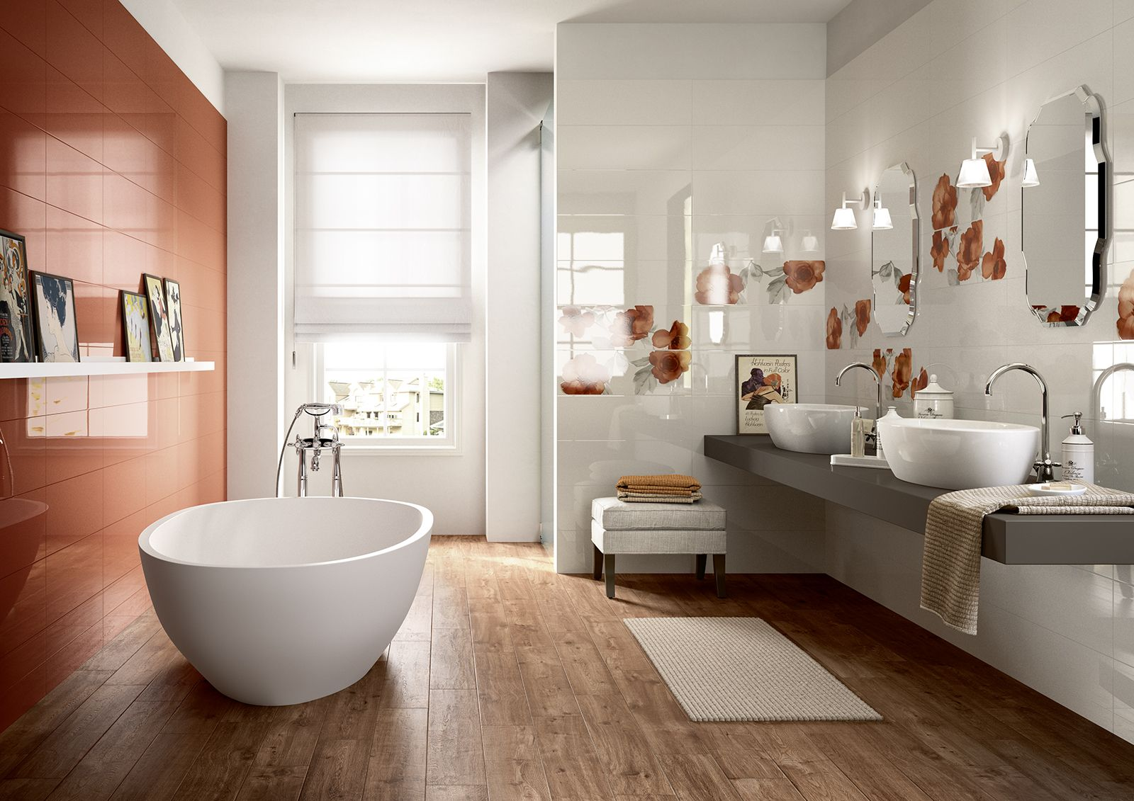 Colourline polished tiles for bathroom wall coverings marazzi