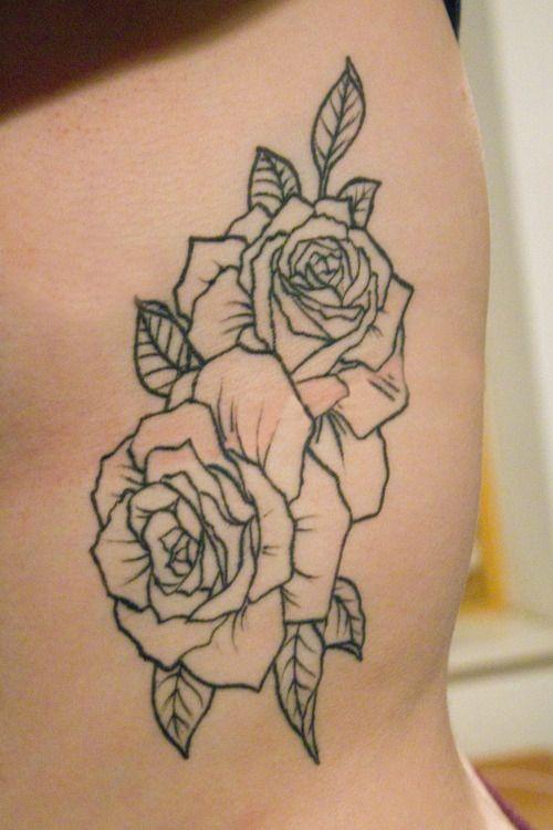 Tumblr Magnmemoh61qf858ho1 500 Jpg 500 750 Rose Outline Tattoo Rose Tattoos Tattoo Outline