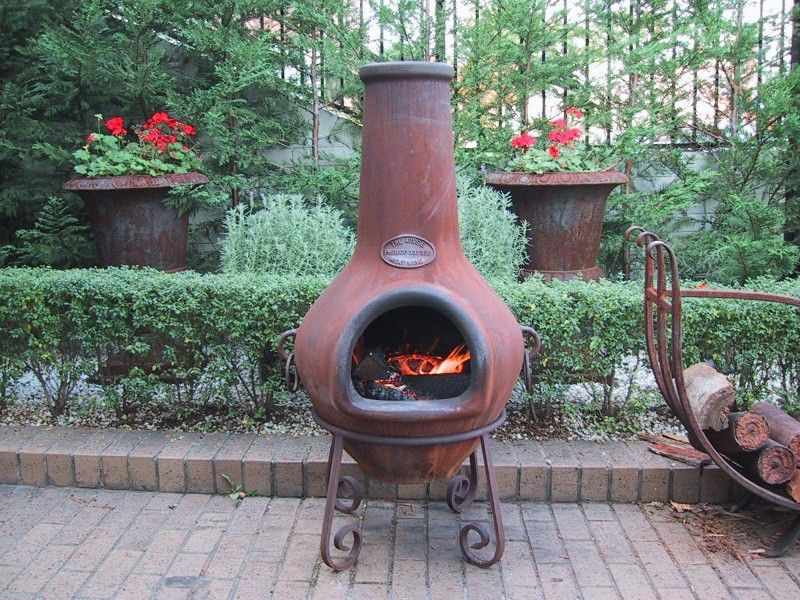 Ceramic Chimney Fire Pit Small Karenefoley Porch And Ever In 2020