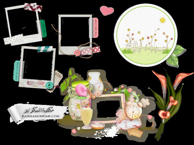 سكرابز متنوع إطارات وزهور وقلوب Photoshop Tools Theme Photoshop