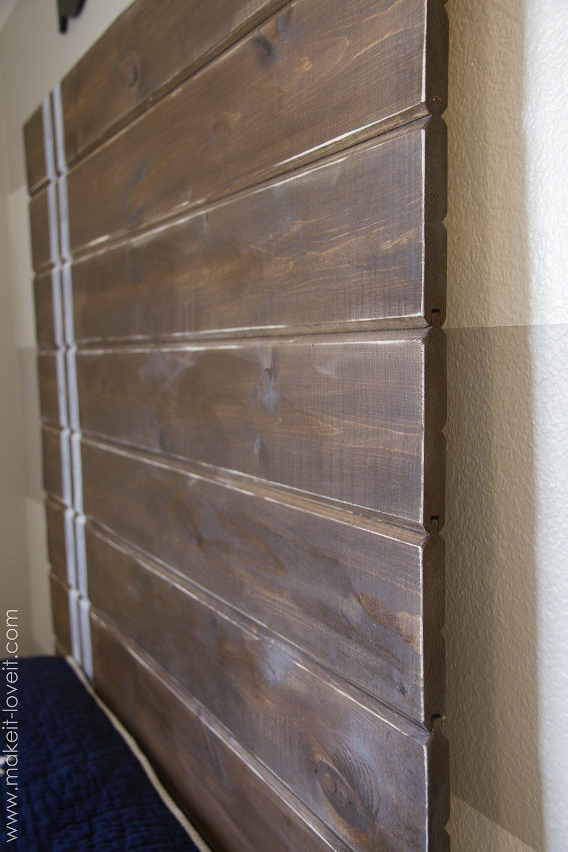 Very simple diy wood plank headboard make it and love for Very headboards