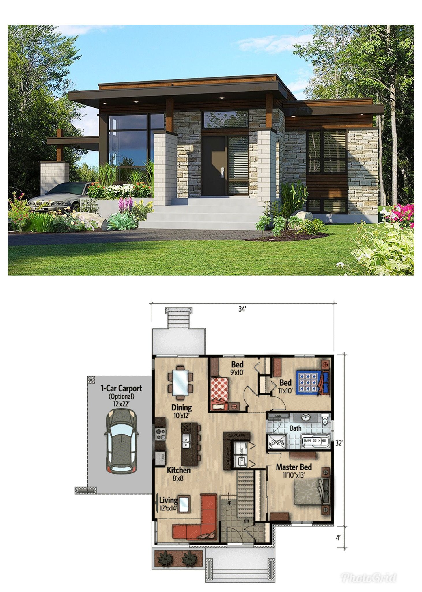 Casa De Piedra Bonita Contemporary House Plans House Designs Exterior Modern Bungalow House