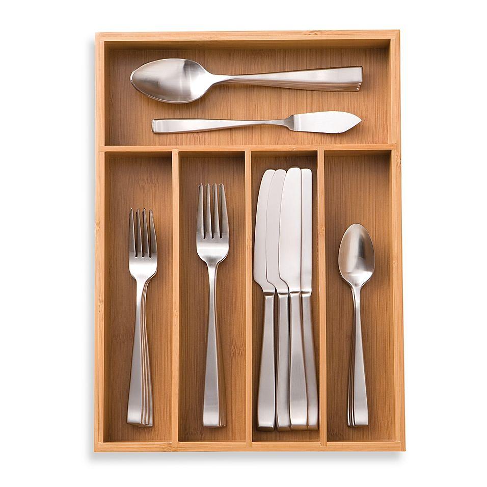 Totally Bamboo Small Cutlery Tray Cutlery Tray Tray