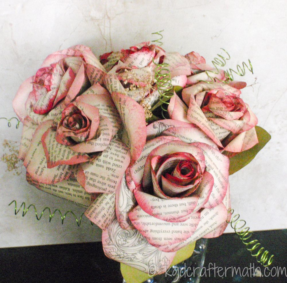 Paper flower tutorial storybook paper roses unique flowers paper wedding roses fantastic tutorial for incredibly beautiful book page roses dhlflorist Choice Image