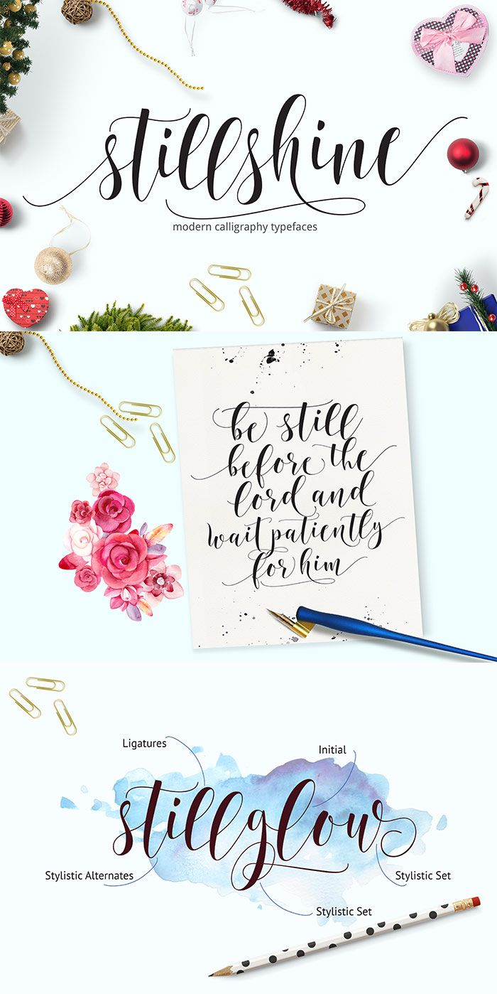 Still Shine Script Hand Lettering Fonts Hand Lettering Modern Calligraphy Fonts